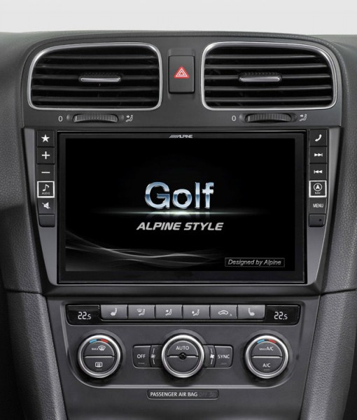 alpine navigation system for volkswagen golf 6 x901d g6. Black Bedroom Furniture Sets. Home Design Ideas