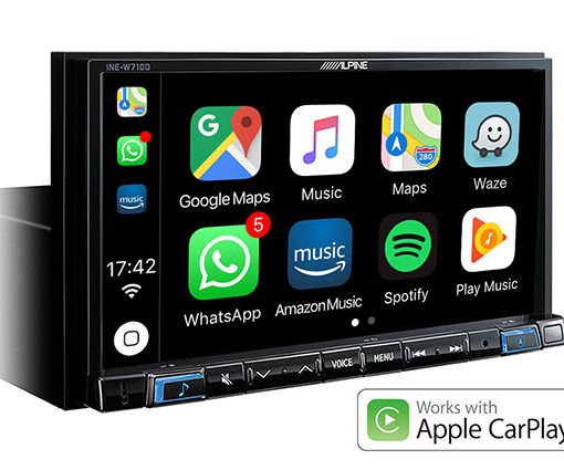 Navigation-System-INE-W710D-Works-with-Apple-CarPlay